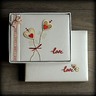 Luxury Personalised Valentines Day OR Wedding Photo Album/ Gift Hand Made Boxed
