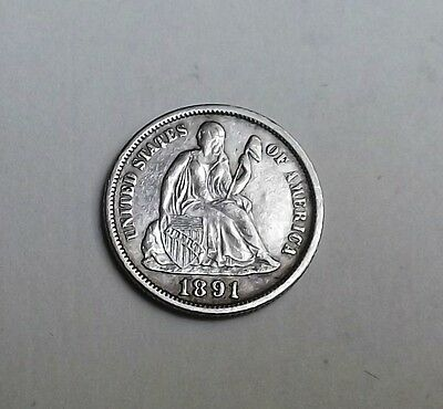 United States 1891 Dime Very Nice Condition Very Nice Rare Coin