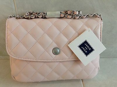 NWTS Janie And Jack Girls Pink Quilted Chain Purse Banquet Blush