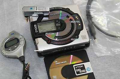 Sharp Md Ms702 Minidisc Player  Md With Microphone