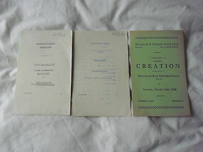 Theatre Programmes x 3 The Broomwood Players London 1948, 1951 & 1952