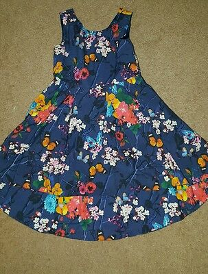 Blue girls floral dress by Next  - age 4