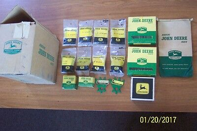 Vintage John Deere Boxes, Bags and Parts