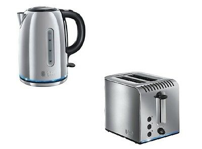 Russell Hobbs Buckingham Kettle And 2 Slice Toaster Set In Stainless Steel