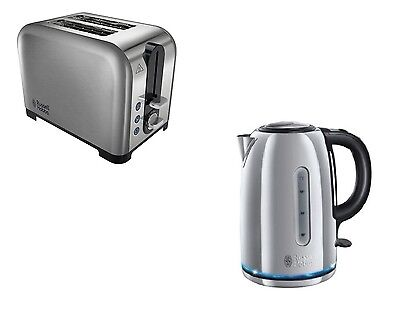 Russell Hobbs Buckingham 1.7L Kettle And 2 Slice Brushed Stainless/s Toaster Set