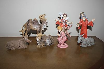 Lot Vtg Nativity Figurine's (7) Piece LOT Marked Italy Plastic Great Condition!!