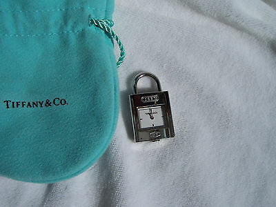 "Tiffany & Co. ""1837®"" Stainless Steel Lock Charm Pendant!!!"