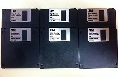"""6 Discos Disquetes Diskette Floppy 3M 3,5 3.5 3 5 """" HD 1.44 Mb"""
