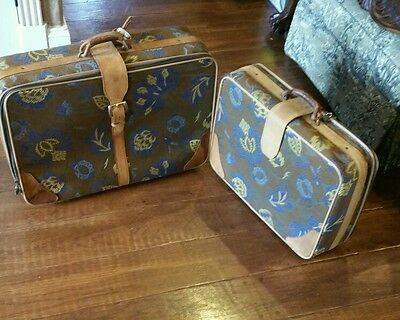 Vintage Suede rare  tough to find 2 pc C&C luggage set 27 and 22 inch each GUC