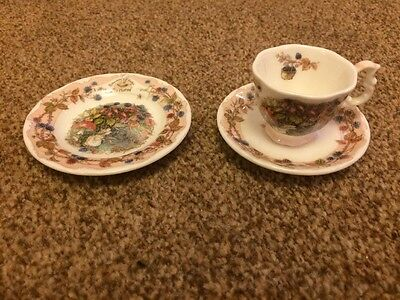 Royal Doulton Small Plate, Tea Cup & Saucer (Bramley Hedge Autumn)