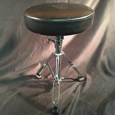 """ADAM 12"""" Adjustable Padded Seat Stool Stand Drummers Hardware Drumming Chair"""