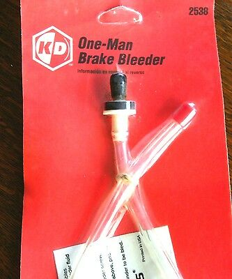One Man Brake Bleeder Kit Two Adapters Relief Value Bleed Tool Fluid Set Parts