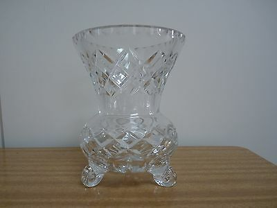 Gorgeous Vintage Crystal Hourglass Footed Vase