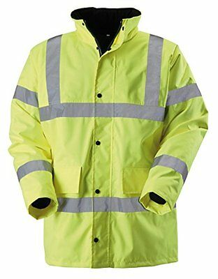 Baratec Men's Hi-Vis Coat Jacket - Yellow, Medium