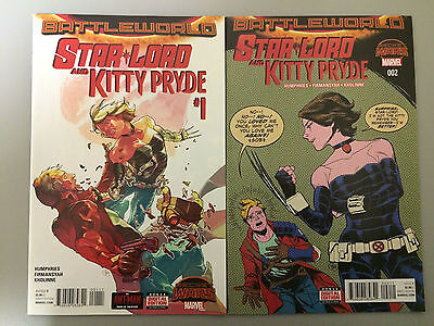 Star-Lord and Kitty Pryde #1 2 1st Print Set NM Run Marvel Secret Wars