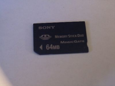 Genuine fully tested Sony 64MB Memory Stick Card Duo for Sony devices