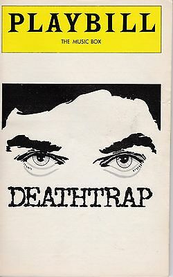John Wood In Deathtrap At The Music Box Theatre Playbill September 1978