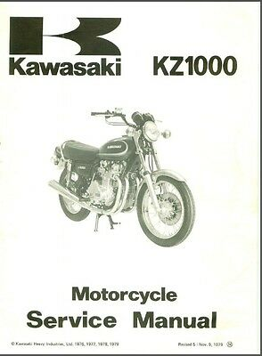 1978-1979-1980 Kawasaki KZ1000 ( Z1000 ) Service Manual on a CD   ---  KZ 1000