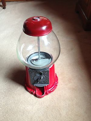Vintage Metal And Glass Lolly Dispenser