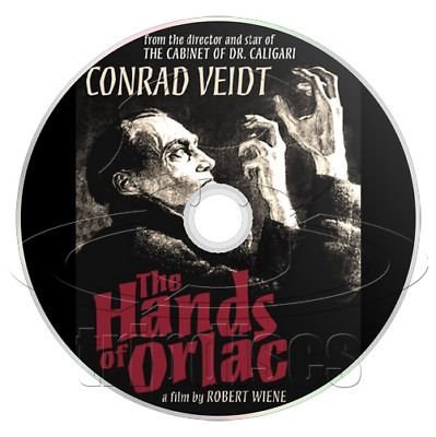 The Hands of Orlac (1924) Crime, Horror, Mystery Movie / Film on DVD