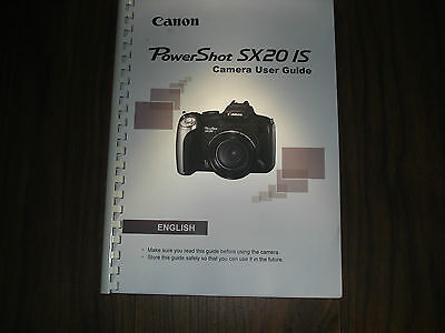 ~PRINTED~ Canon Powershot Sx220 IS  User guide Instruction manual  A4/A5