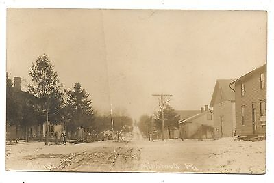 RPPC Main Street MILLBROOK PA Mercer County Pennsylvania Real Photo Postcard