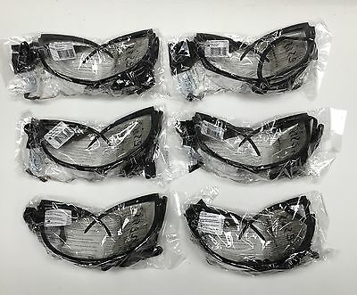 6 Pair Jackson Safety V30 Nemesis Safety Glasses Style 25676-00 3000354 Clear