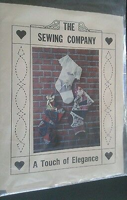 The Sewing Company A Touch of Elegance Christmas Stocking Pattern