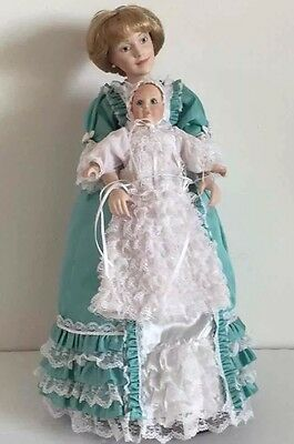 Danbury Mint Christening Day Mother & Child Dolls Collectible Figurines