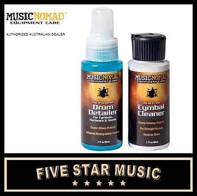 Music Nomad Drum And Cymbal Cleaner Pack Includes Cymbal Cleaner & Drum Detailer