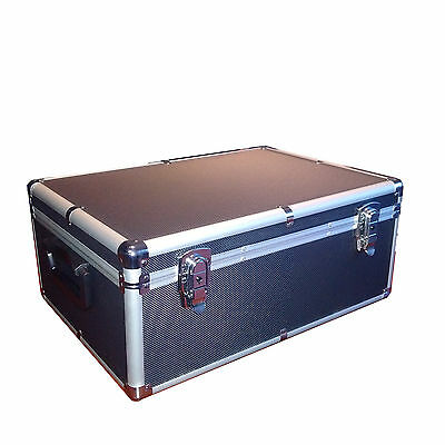 510  ALUMINUM LIKE CD DVD BLU-RAY CARRY n STORE CASE BLACK SHIP TO CANADA & USA