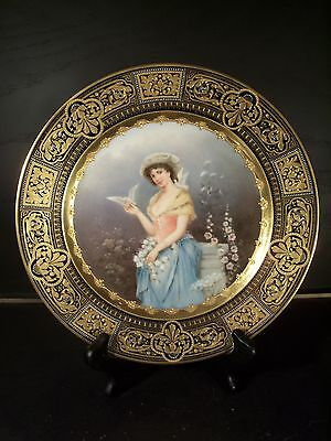 Antique Royal Vienna Porcelain Hand Painted Plate Signed