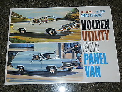 1965 Hd Holden Ute And Van Sales Brochure  100% Guarantee