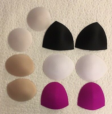Sports Bra Swimsuit Inserts Pads Padding Assorted 5 Pairs
