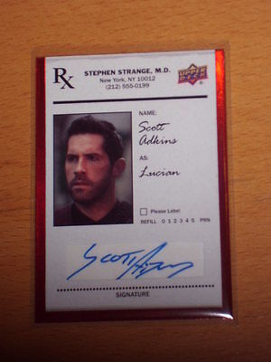 2016 Ud Marvel Doctor Strange Red Auto Autograph Scott Adkins Lucian