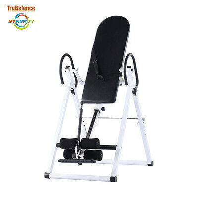 New! Trubalance Synergy Inversion Table- Inverting Foldable Design W/padded Back