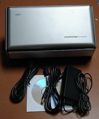 Used Fujitsu ScanSnap S1500 Scanner software and warranty