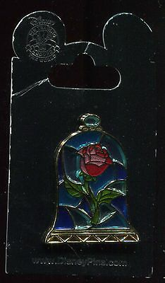 Beauty and The Beast Stained Glass Rose Disney Pin 114236