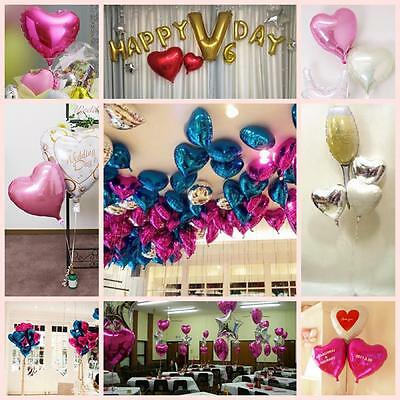 Engagement Decoration Helium Heart Shape Party Birthday 18 Inch Foil Balloons