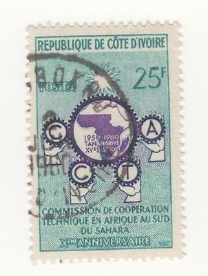1960 IVORY COAST 10th Anniv of African Technical Co-operation Comm. SG#196 Used