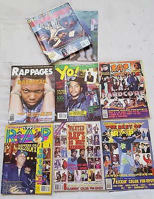 Rap Masters Pages Yo Source Pulse Hip Hop Magazine Lot NWA Ice Cube Cypress Hill