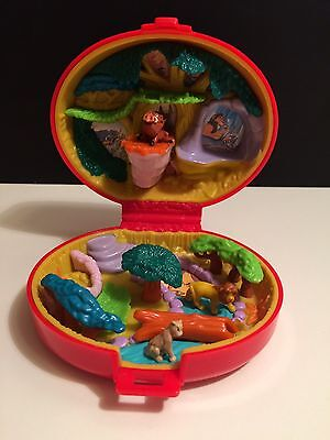 Lion King Vintage Polly Pocket (Bluebird) Compact with 3 Animal Characters 1995