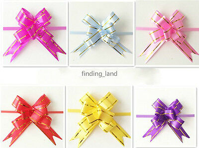 10 / 20 / 50 / 100pcs 12MM X250MM Ribbon Pull Bows Wedding Party Gift wrap B3