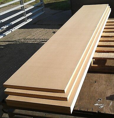 5 Pieces of New 25mm MDF 96in x 18in (2440mm x 450mm)