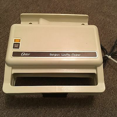 Vintage Oster Square Belgian Waffle Maker...Excellent Working Condition!