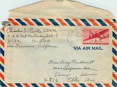 Lettre Cover US Army postal service Censored 1946