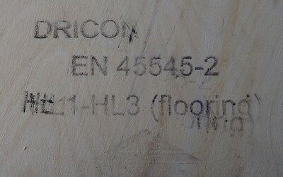"""10 Pieces of NEW 9mm """"DRICON"""" Fire Retardant Birch Plywood 8ft x 8½in (2440mm x"""