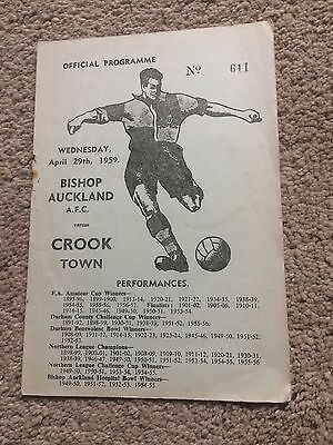 BISHOP AUCKLAND v CROOK TOWN CHALLENGE CUP SEMI FINAL 1959