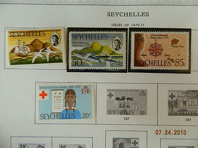 Seychelles Sc# 1970-1972 Unmounted/mounted Mint/used