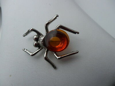 Baltic Amber  Spider Brooch Jewellery 7,2 gr
